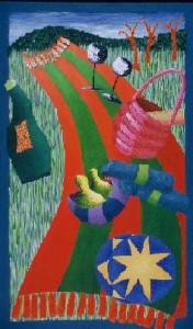 oil on canvas, 77 x 45 cm